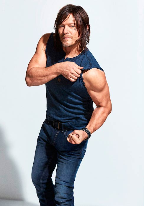 Norman Reedus photoshoot for Men's Fitness March 2016 Cover