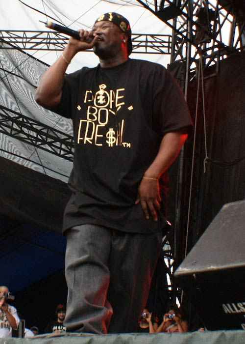 Rapper Project Pat performing at an event in 2008