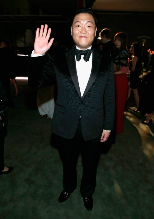 Psy at the LACMA Art + Film Gala Honoring Robert Irwin and Kathryn Bigelow in October 2016 in Los Angeles