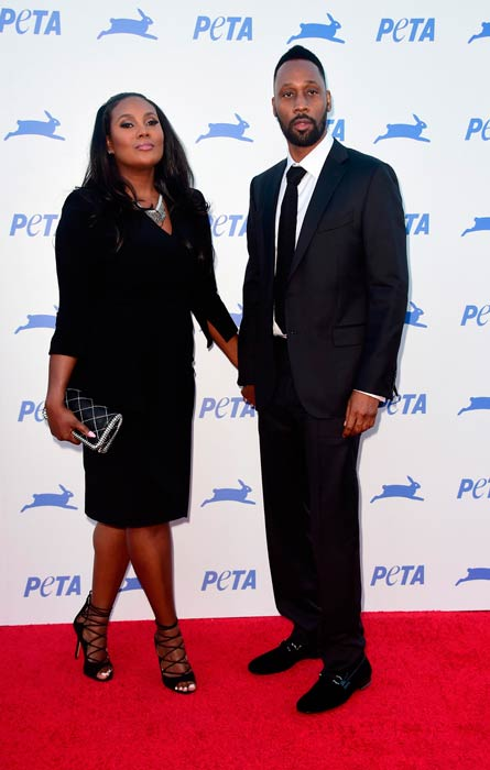 RZA and Talani Rabb at the PETA's 35th Anniversary Party in September 2015