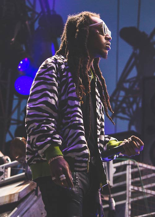 Rapper Takeoff performing at Veld Festival in August 2017