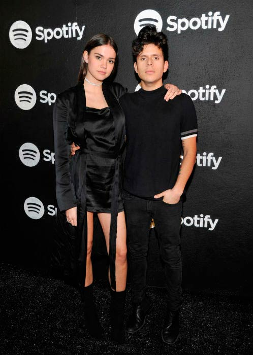 Rudy Mancuso and Maia Mitchell at the Spotify Best New Artist Nominees celebration in February 2017