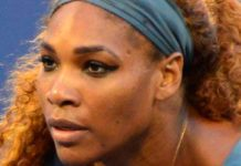 Serena Williams with Venus Williams at 2013 Doubles US Open