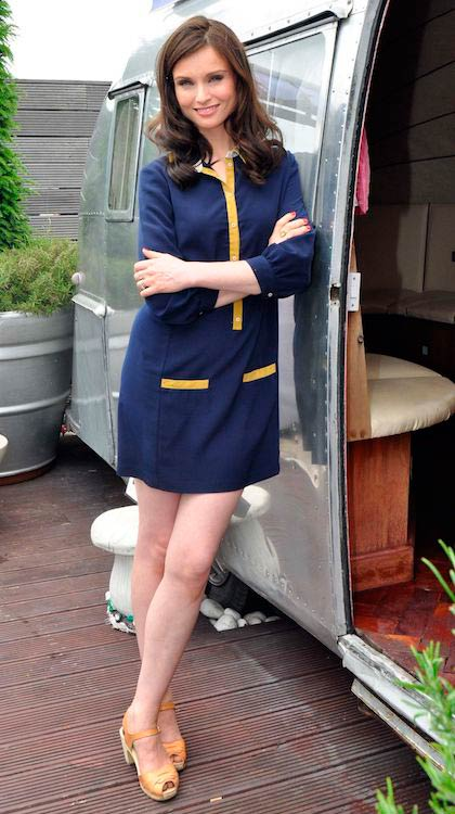 Sophie Ellis-Bextor poses for a Wanderlust promo photoshoot in London in June 2014