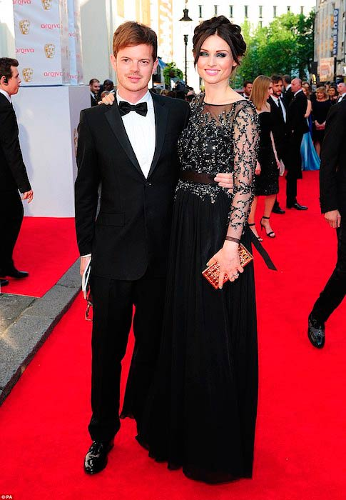 Sophie Ellis-Bextor with husband Richard Jones at the BAFTA Awards in London in May 2014