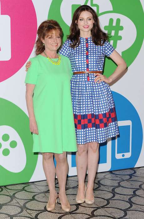 Sophie Ellis-Bextor with her mother, Janet Ellis for the Internet Matters campaign in London in May 2014