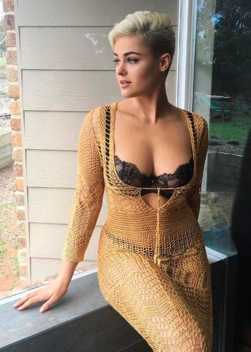 Stefania Ferrario in a picture shared on her Instagram in October 2016