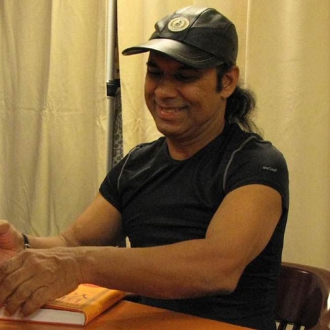 Bikram Choudhury at a book signing event in New York in 2007