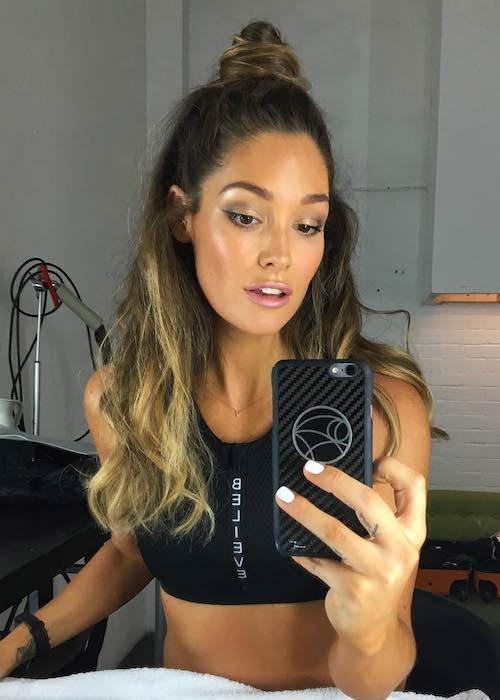 Erin McNaught in an Instagram selfie in July 2017