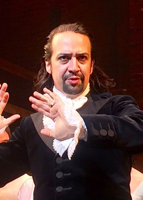 Lin-Manuel Miranda playing the title role in the musical 'Hamilton' in April 2016