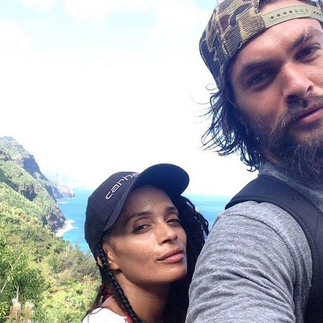 Lisa Bonet and Jason Momoa in a selfie