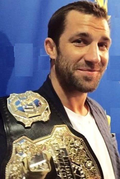 Luke Rockhold with his belt in 2016