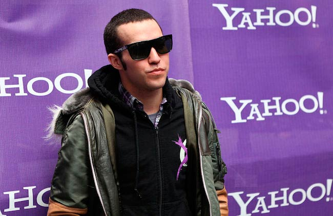 Pete Wentz at Yahoo Yodel in October 2009