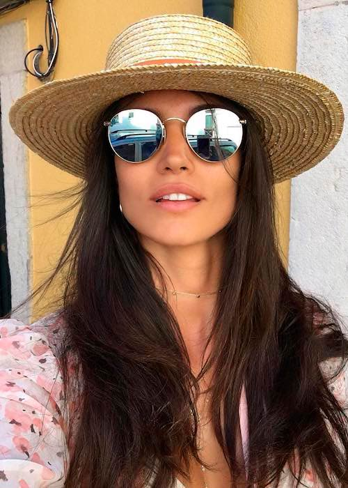 Sofia Resing on holidays in Portugal in August 2017