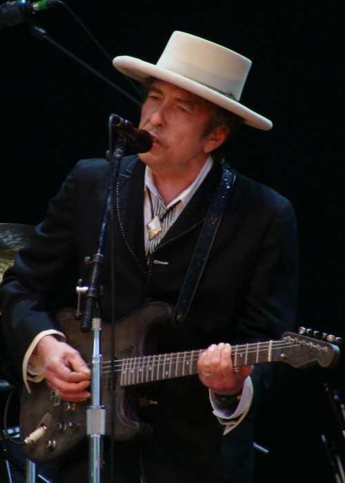 Bob Dylan at the Azkena Rock Festival in June 2010