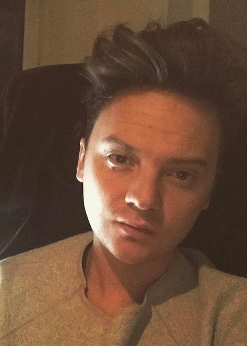 Conor Maynard in an Instagram selfie in February 2017
