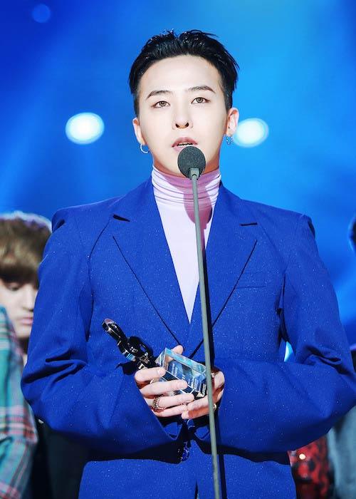 G-Dragon during Gaon Chart Music Awards 2016