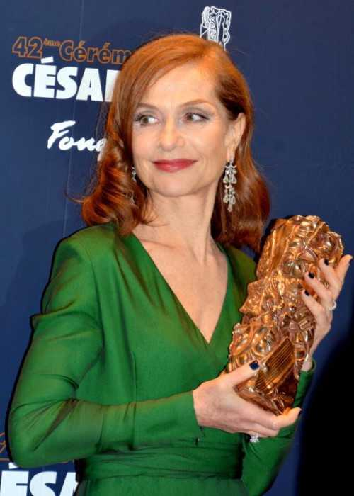 Isabelle Huppert at the Césars Awards in 2017
