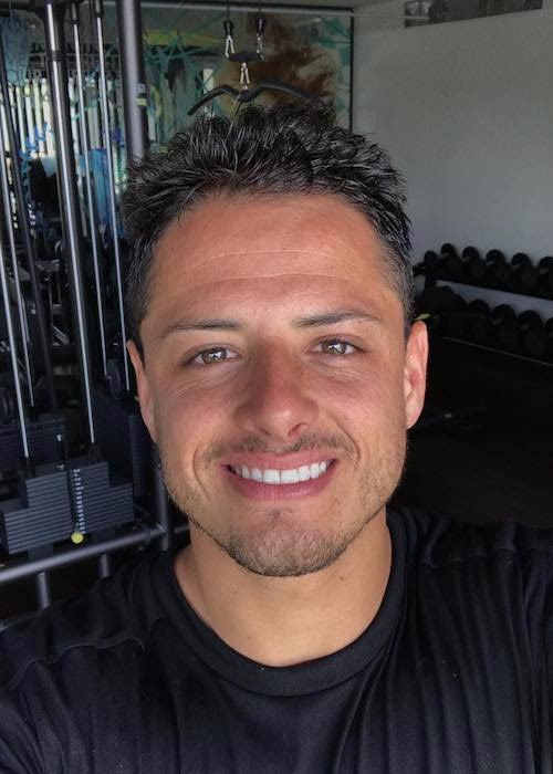Javier Hernández in an Instagram selfie in July 2017