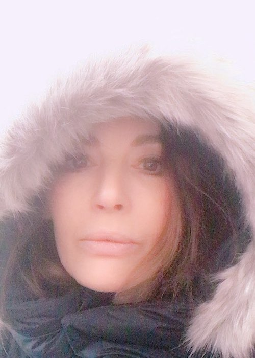 Nigella Lawson during the snowy weather in March 2018