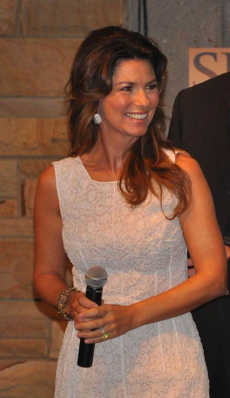 Shania Twain during a press conference in June 2011