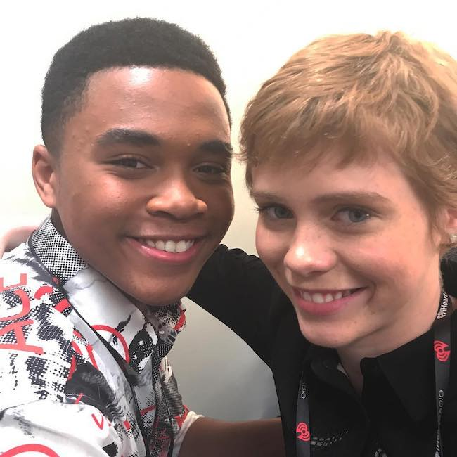 Sophia Lillis (Right) and Chosen Jacobs during a September 2017 picture