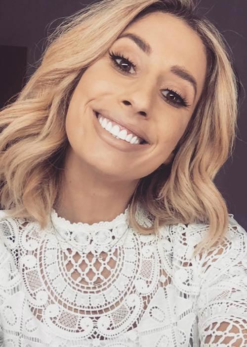 Stacey Solomon in an Instagram selfie in October 2017
