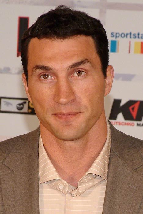 Wladimir Klitschko during a press conference in Germany in 2010