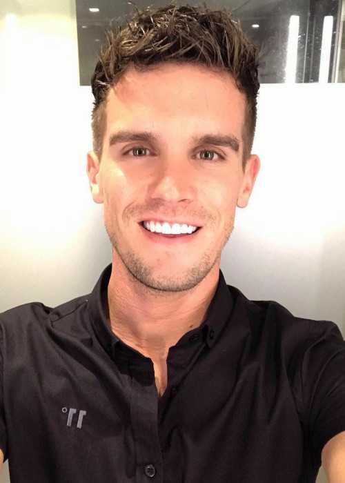 Gaz Beadle in an Instagram Selfie in October 2017