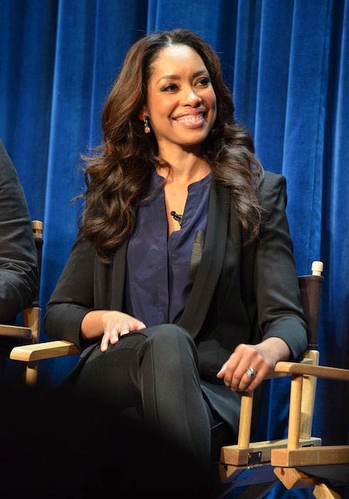 Gina Torres during a promotional event for the TV show Suits in January 2013