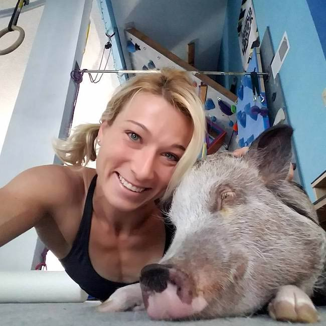 Jessie Graff in an Instagram selfie in August 2017