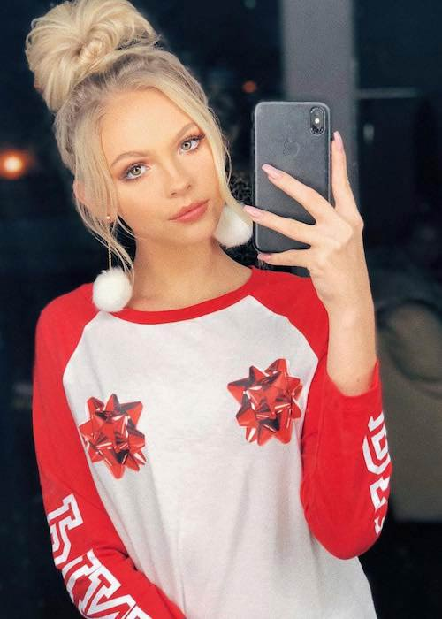 Jordyn Jones in an Instagram selfie in November 2017