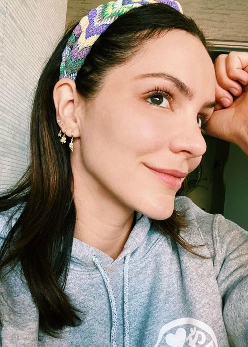 Katharine McPhee in an Instagram selfie as seen in May 2020