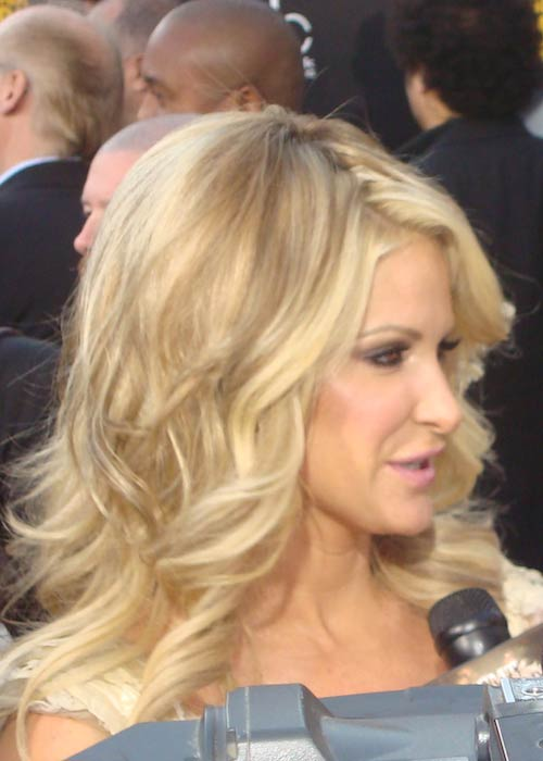 Kim Zolciak while giving an interview on November 22, 2009 in Los Angeles