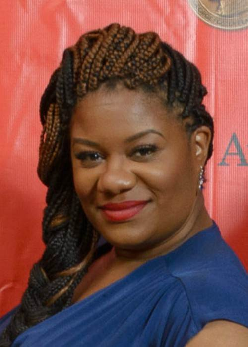 Adrienne C. Moore at the Peabody Awards in May 2014