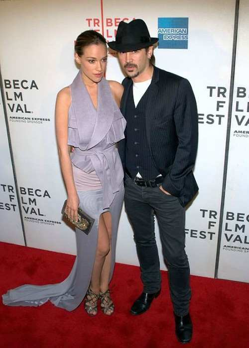 Alicja Bachleda-Curuś and Colin Farrell as seen in April 2010