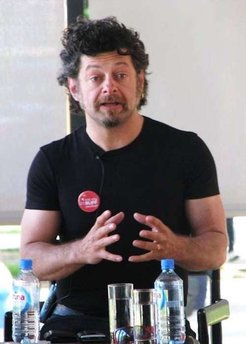 Andy Serkis addressing people
