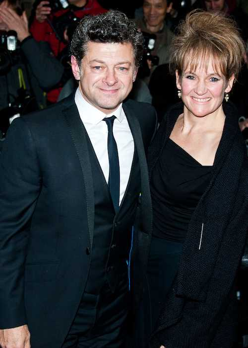 Andy Serkis and Lorraine Ashbourne at Harper's Bazaar Women of the Year Awards 2013