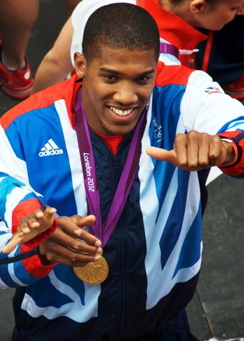 Anthony Joshua at the 2012 London Olympic and Paralympic Games Victory Parade