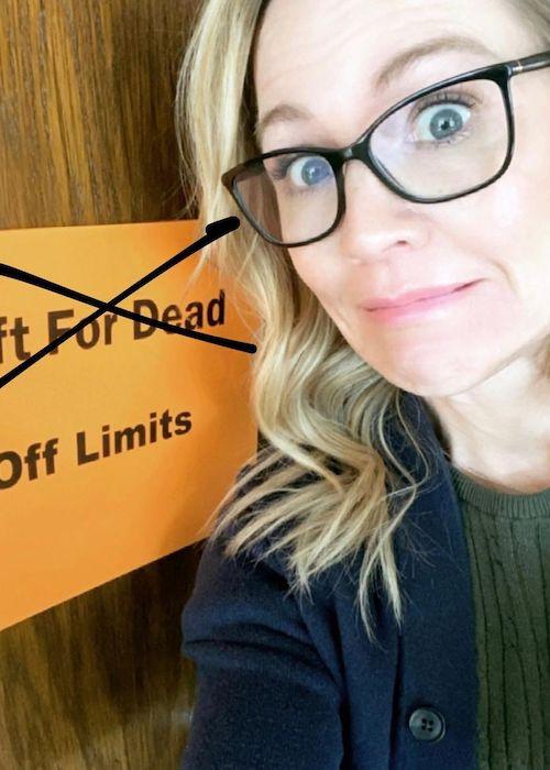 Jennie Garth in a picture in March 2021