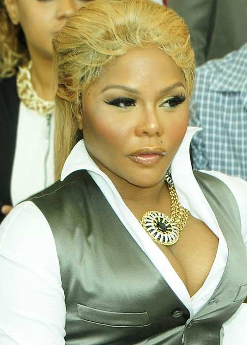 Lil' Kim at the Mercedes Benz Fashion Week in 2012