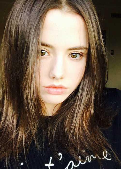 Lily Mo Sheen in an Instagram Selfie in December 2015