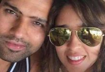 Ritika Sajdeh with Rohit Sharma Healthy Celeb