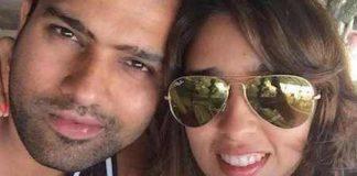 Ritika Sajdeh with Rohit Sharma Healthy Celeb