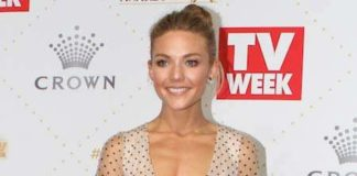 Sam Frost at TV Week Logie Awards in 2016