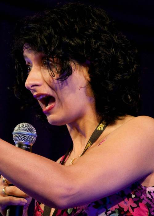 Shappi Khorsandi at the Latitude Festival in 2009