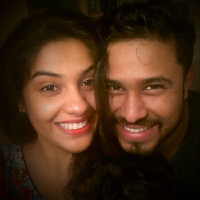 Abish Mathew and Archana Kavi in a selfie in October 2015