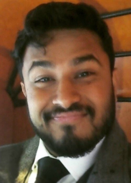 Abish Mathew in an Instagram selfie in December 2014
