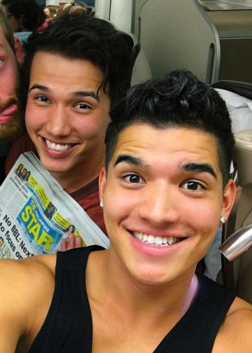 Alex Wassabi (Right) and Aaron Burriss in a selfie in May 2016