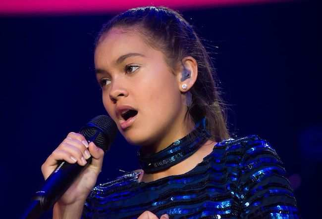 Alexa Curtis singing in JESC 2016